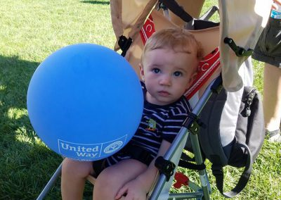 Little donor at Campaign Kickoff