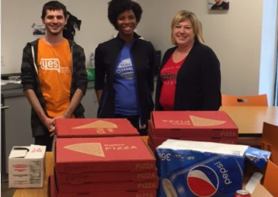 AG Processing Pizza Donation to YES